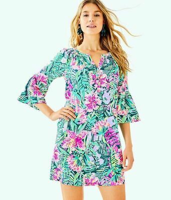 6ebd451cfb19 New Lilly Pulitzer Teigen T-Shirt Tunic Dress Multi Slathouse Soiree XL