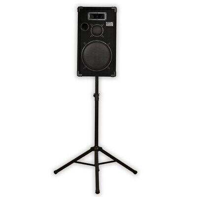 "Acoustic Audio CR12 Passive 12"" DJ Speaker and Stand PA Karaoke Band Monitor"
