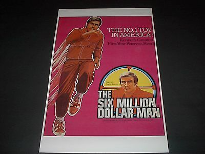 Kenner Six Million Dollar Man The No.1 Toy In America Poster Pin Up