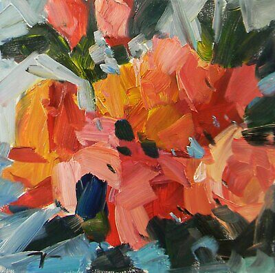 JOSE TRUJILLO Oil Painting Impressionism Abstract Flowers Floral Contemporary