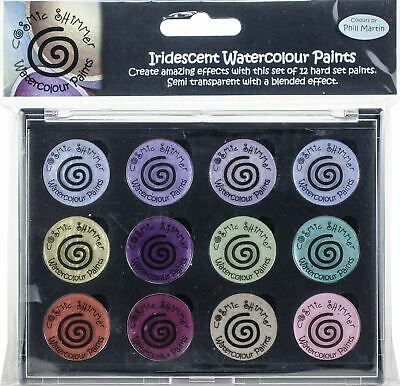 Cosmic Shimmer Iridescent Watercolor Palette Set 9-Frosted & Chic -CSIWPST9