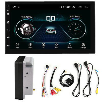 "Double 2Din Android 8.1 7"" 1080P Car pLAYER Stereo Radio GPS Wifi QUAD-Core RDS"