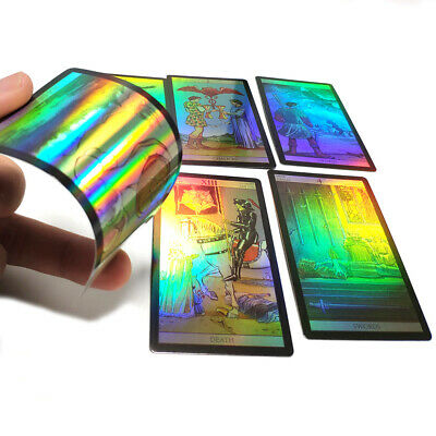 78 Holographic Tarot Cards Deck Game Divination in 4 Languages with Free Bag