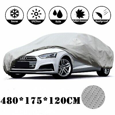 Waterproof Large Full Car Cover Breathable Sun UV Rain Protect Indoor Outdoor