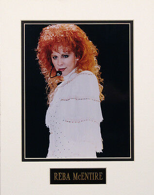 Reba McEntire 8x10 Color Glossy Photo Custom Matted w/ Engraved Nameplate