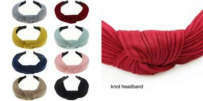 DRESHOW Fasce femminili Headwraps 8 Pack Wide Plain Headbands Solid Color