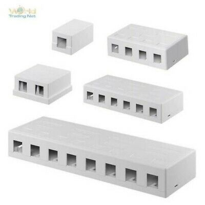 Keystone Modular Surface-Mounted Empty Casing,UTP White for Snap-In