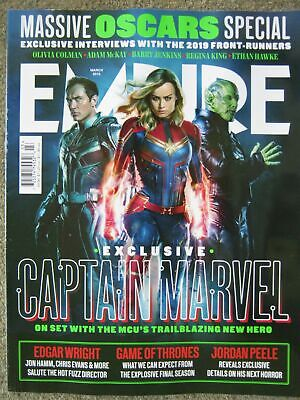 Empire March 2019 Captain Marvel Game of Thrones Olivia Colman Ethan Hawke Peele