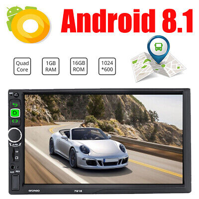 7in 2Din Touch Quad Core Android 8.1 GPS Navi RDS Car Stereo MP5 Player FM Radio