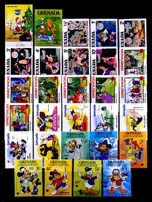 Grenada, British: 1980'S Stamp Collection Mint Never Hinged Disney