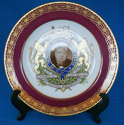 Sir Winston Churchill Spode Porcelain Limited Edition Commemorative Plate