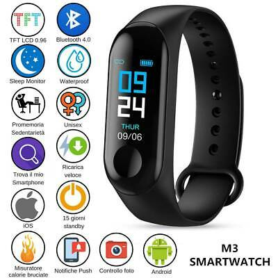 Smartwatch Orologio Cardiofrequenzimetro Smartband Sport Fitness Ios Android NEW