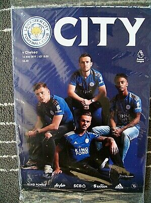 LEICESTER CITY  v CHELSEA  12th MAY 2019  BAGGED PROGRAMME + POSTER