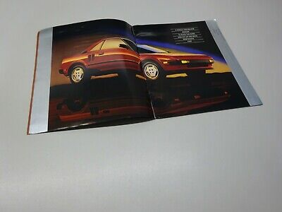 LARGE TOYOTA MR2 BROCHURE, US MARKET, in ENGLISH. 12/84.