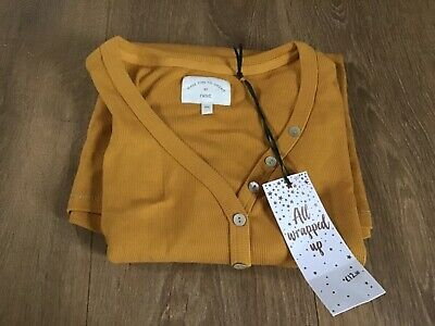 New & Tagged - Ocre Long Sleeved Ribbed Pyjama Pj Top - S Small  (Approx 8-10)