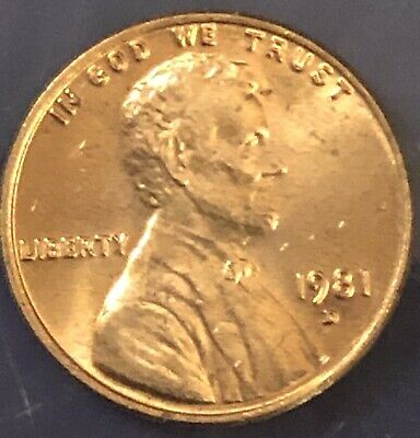 1981 D  ddo  Lincoln Penny Uncirculated Gem Mint Actual Coin Pictured,High Grade