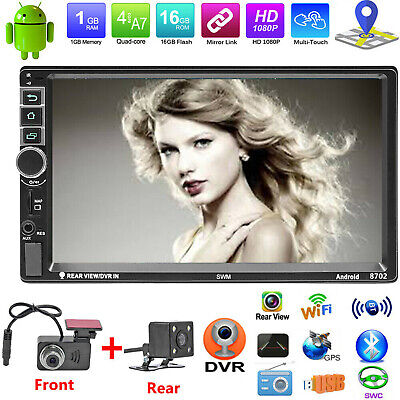 """7"""" Touch Android 5.1.1 Car Stereo MP5 FM Radio Player DVR GPS WiFi BT +Camera"""