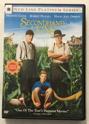 SECONDHAND LIONS with Michael Caine Robert Duvall Haley Joel Osment DVDS