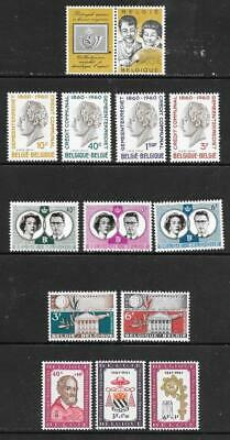 BELGIUM - 4 x Sets + 1 x Single, MNH - 1960/61 Issues.