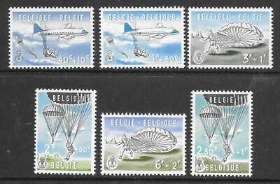 BELGIUM - 1960.  Parachuting - Set of 6, MNH.  Cat £28