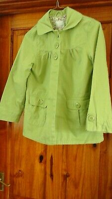 Girls Pale Green Lightweight Coat From Next Age 9-10 Years