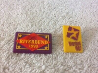Collectible Vintage Set of 2 RIVERBEND FESTIVAL Chattanooga TN 1997 1993 Pins