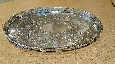 """Vintage Viners Of Sheffield """" Alpha """" Plate Galleried Serving Tray"""