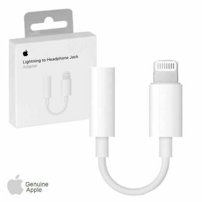 Genuine Apple Lightning to 3.5mm Headphone Jack Adapter iPhone 7,7+8,8,X,XS MAX.
