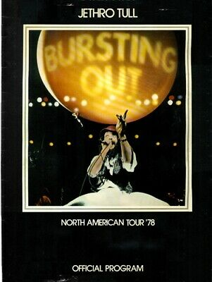 Jethro Tull North American Tour '78 Official Program RARE ORIG 20 Page Book EXC