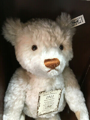 "Steiff British Collector's 1911 Replica Teddy Bear 16"" Mohair Excelsior Stuffed"