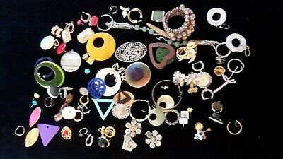 Job Lot of Antique Vintage Costume Jewelry Bracelet Brooch Earrings Craft Mixed