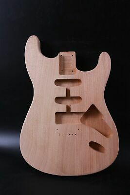 Strat Unfinished Guitar Body Replacement Mahogany DIY Electric Guitar hard tail