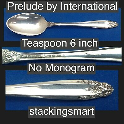 Prelude by International Sterling Silver 925 Teaspoon No Monogram 6 inches Nice