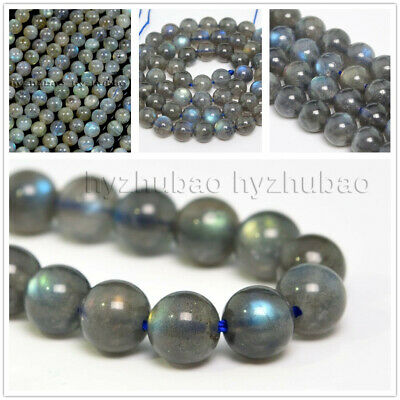 4/6/8/ 10mm Natural AAA Rainbow Labradorite Gemstone Round Loose Beads Chatoyant