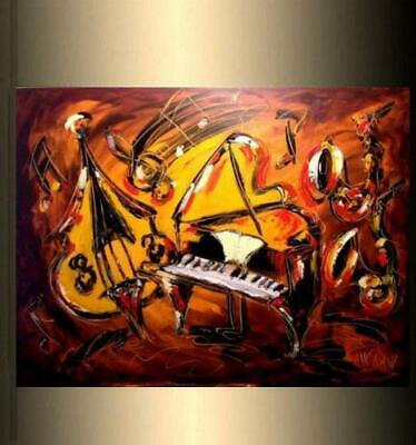 JAZZ MUSIC Modern Abstract Oil Painting Original Canvas Wall Decor Impressionist