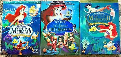 The Little Mermaid 1, 2 & 3 (Trilogy Bundle) NEW SEALED!  Free Shipping!