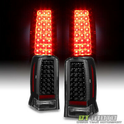 2002-2006 Cadillac Escalade ESV Blk LED taillights Rear Brake Lamps Left+Right