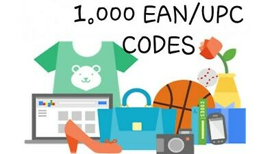 1000 EAN UPC Numbers Barcodes Bar Code Gs1 EAN Amazon Lifetime Guarantee
