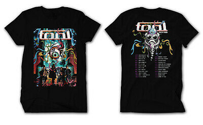 TOOL Band 2019 Tour with dates Men's Black T-Shirt size S to 2XL