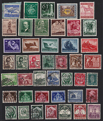 German Stamps Third Reich Issues Good Selection GCV