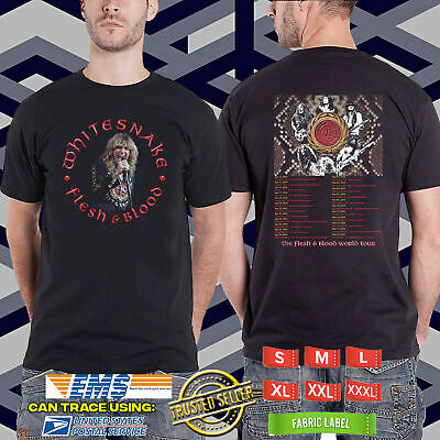 Neu Begrenzt Whitesnake Flesh And Blood Usa Tour 2019 Black  T-Shirt S-5Xl