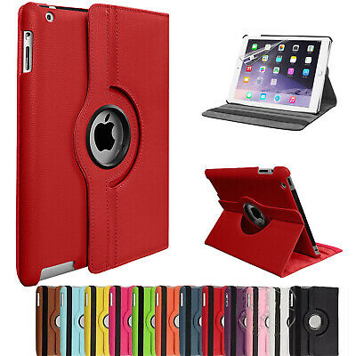 Leather 360 Rotating Stand Case Cover For Apple iPad2/3/4 Air1/2 Mini1/2/3 Lot