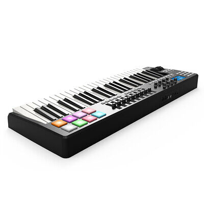 WORLDE 49-Key USB MIDI Keyboard Controller 8 RGB Colorful Backlit Pads Z5L9