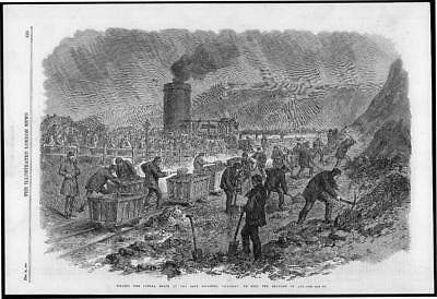 Antique Print 1870 Art Yorkshire Colliery Riots Trial At Barnsley