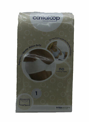 CANTALOOP Maternity Women's White Below-Belly Pregnancy Hipster Sz 1 NEW