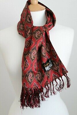 Vintage Tootal Grosvenor Paisley Fringed Scarf - Mod Dapper Goodwood Ascot