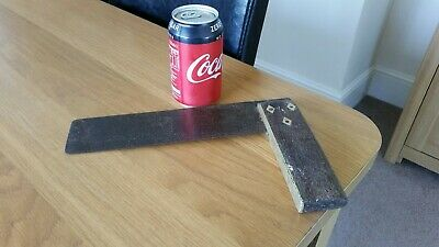 Large Antique Carpenters Square...Wooden & Brass Handle..Steel Blade...Well Used