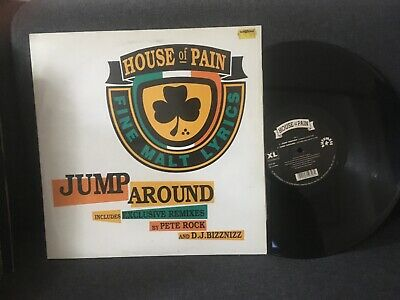 "House Of Pain Jump Around +Remixes Pete Rock Vinyl 12"" Rare Original Release  Ex"