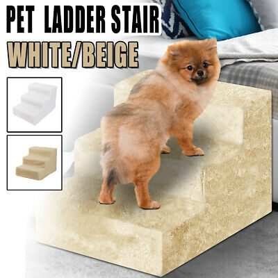 Large 3 Step Pet Dog Ramp/Foam Easy Up Stair Portable Ladder Pet For Bed Sofa