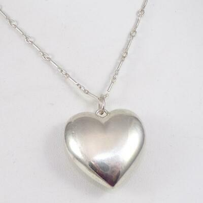 da376bff3d2 Tiffany & Co Sterling Silver Puffy Heart Love Pendant Necklace 24